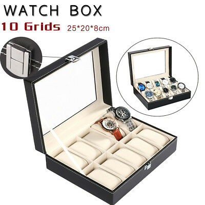 6/9/10/12/20/24 Watch Jewelry Storage Holder Box Watches Sunglasses Display Gift 8