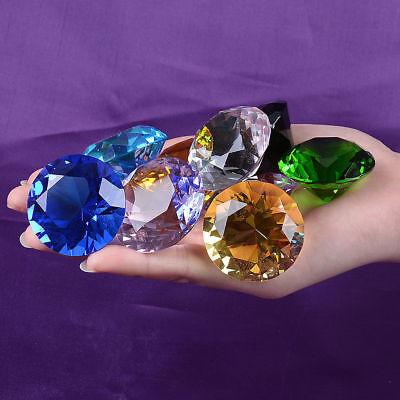 30mm purple Crystal Diamond Shape Paperweight Gem Display Ornament AH 4