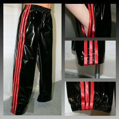 PVC Track Pants S Black /& Pewter NOW WITH POCKETS 4XL