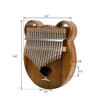 Kalimba 17 Thumb Piano Finger Key Mbira Education Musical Instrument Wood 6