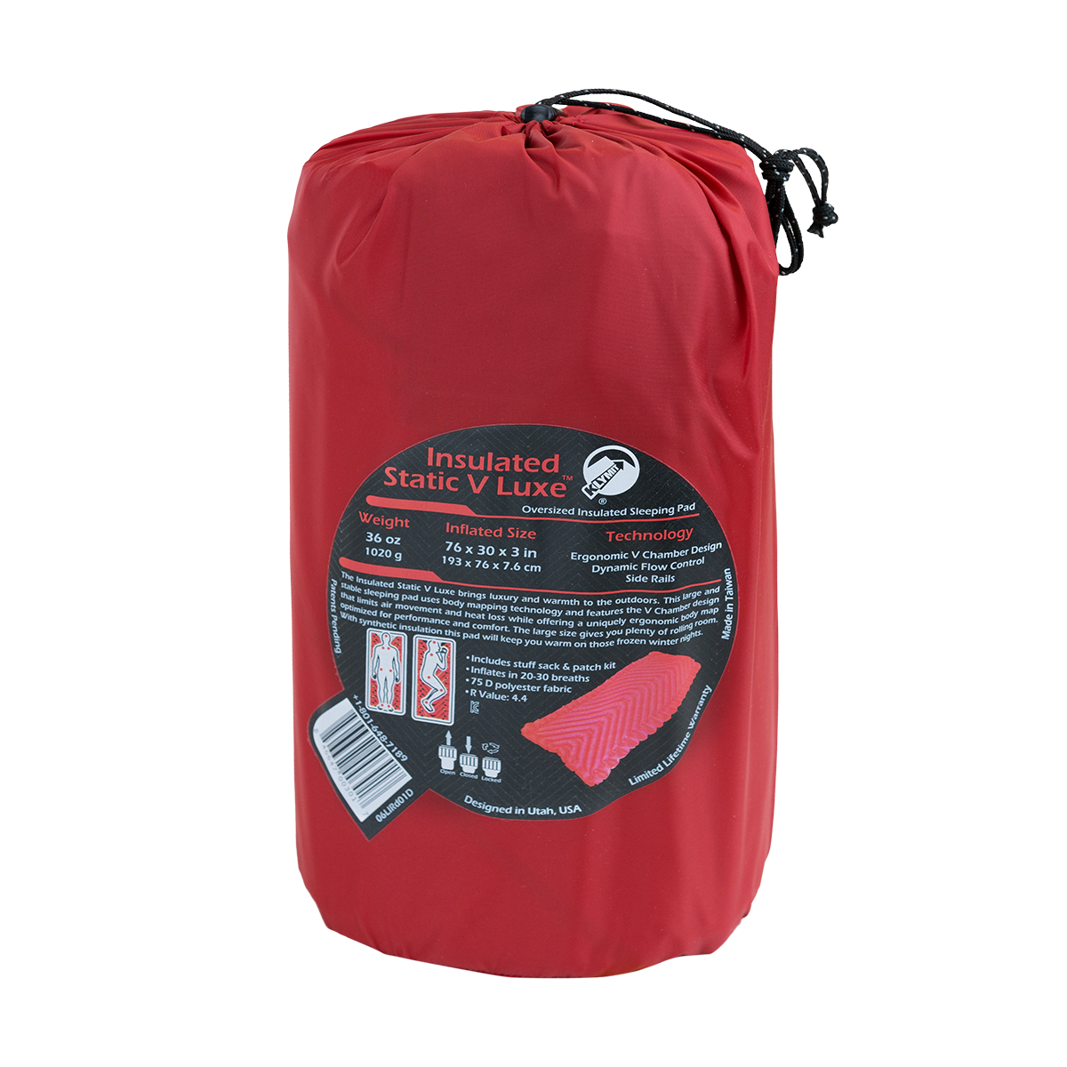 KLYMIT Insulated Static V Luxe Xtra Large Sleeping Pad - FACTORY REFURBISHED 4