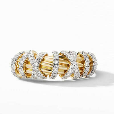 Elegant Women Wedding Ring 18k Yellow Gold Plated White Sapphire Size 6-10 3