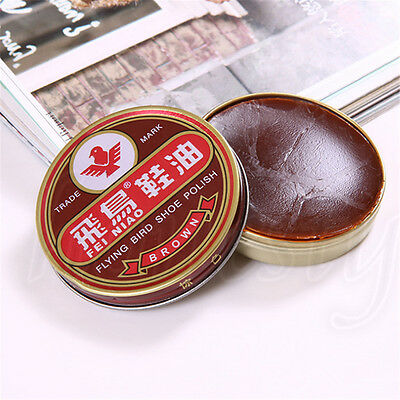 1pc Useful Flying Bird Leather Shoe Wax Polish High Gloss Shine 40g 3 Colors