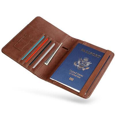 RFID Blocking Slim Leather Travel Passport Holder Credit Card Wallet Case Cover 8