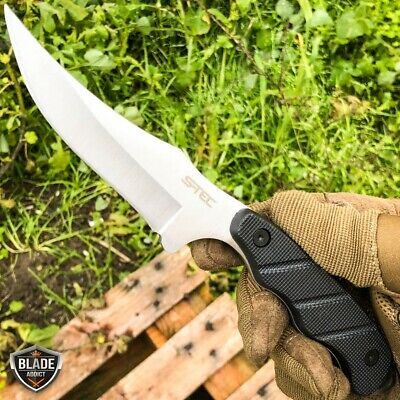 "9"" Tactical Hunting Fixed Blade Survival Camping Knife Full Tang w/ Hard Sheath 9"