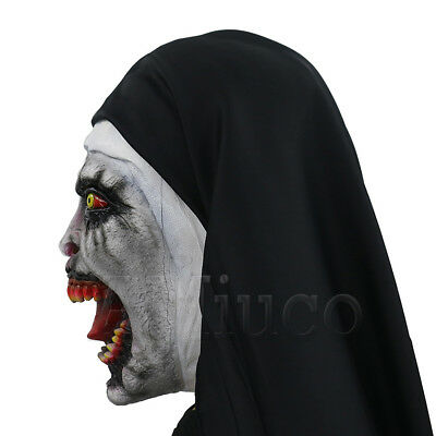 Women Nun Robes Dress For The Conjuring Scary Suit The Nun Valak Cosplay Costume 8