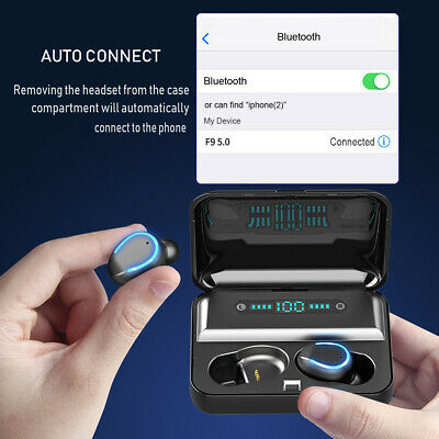 Bluetooth 5.0 Earphones Wireless Headphones Mini Earbuds Headset Waterproof TWS 6