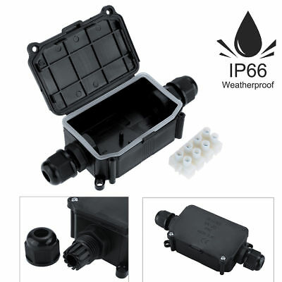 2 3 Way Outdoor Waterproof IP66 Cable Connector Junction Box 240V UK 2//3//5Pcs
