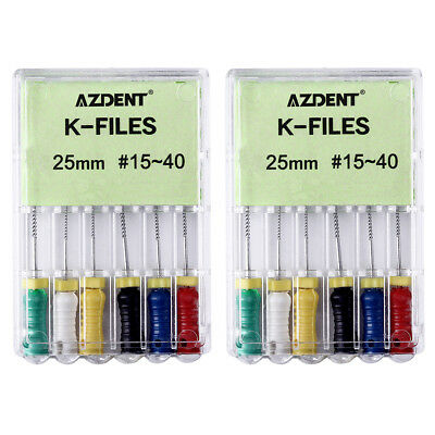 K-FILES 6Pc/Kit Dental NITI Root Canal Endodontics 25mm #15-40 Hand Use File CA 11