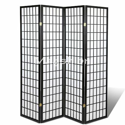 3 4 Panel Japanese Oriental Room Divider Hardwood Shoji Screen