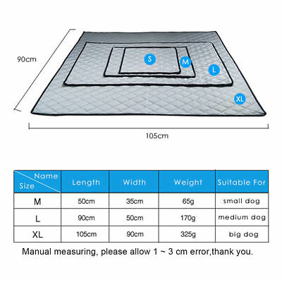 Pet Cooling Mat Non-Toxic Cool Pad Cooling Pet Bed for Summer Dog Cat Puppy 8