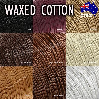 10m x1mm Waxed Cotton Thread Cord Beading Macrame String Bracelet Necklace DIY 2