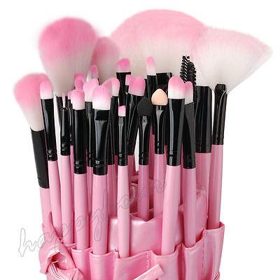Professional 32 Piece Kabuki Make Up Brush Set and Cosmetic Brushes Case Pink 3