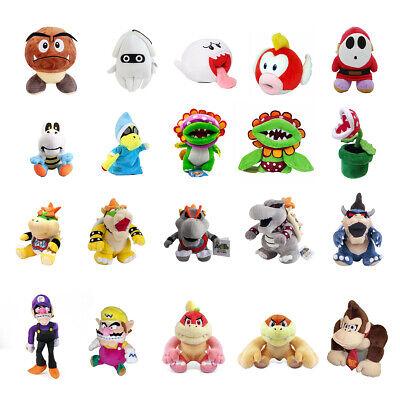 5~12'' Super Mario Bros. Plush Toys lot Magikoopa Kamek Waluigi Bowser Jr. Koopa 3