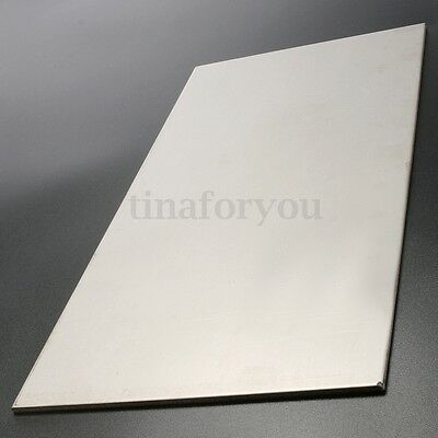 3MM THICK SILVER Industrial Titanium 6AL4V Metal Plate Sheet 12 x 6 x 0   125