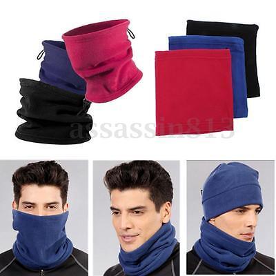 Fleece Neck Warmer Hood Snood Scarf Hat Mask Ski Snowboarding Winter Sports hat