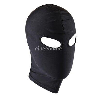 Kopfmaske Blickdicht Unisex Strecken Maske mit Augen und Mund Dessous Schwarz 4