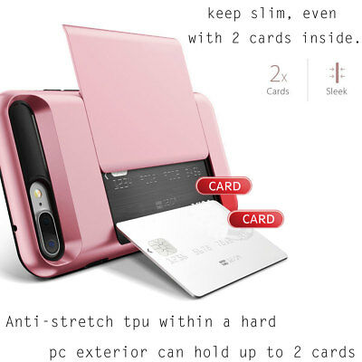 Fits Apple iPhone Case Protective Wallet ID Credit Card Holder Shockproof Cover 6