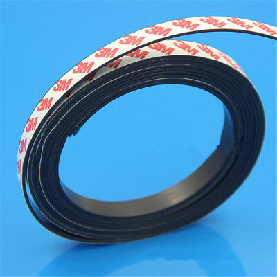 1M Long One Side Self Adhesive Magnetic Tape Magnet Strip Width 1-2mm 3