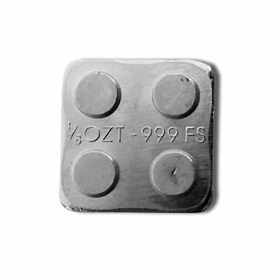 1 - 1/8 oz. 999 Fine Silver Building Block Bar (2X2) - Connect Blocks Together 3
