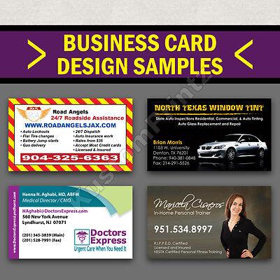 100 Custom Full Color Business Cards | 16Pt | Matte Dull Finish | Free Design 5