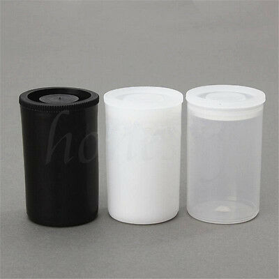 10pcs Plastic Empty Black/White Bottle 35mm Film Cans Canisters Containers 3