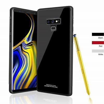 Samsung Galaxy S10 S9 Plus S10e Note 9 Case Slim Bumper Cover Tempered Glass 2