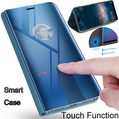 SMART MIRROR LEATHER Case for Huawei Honor 8X Max View Flip Stand Phone  Cover