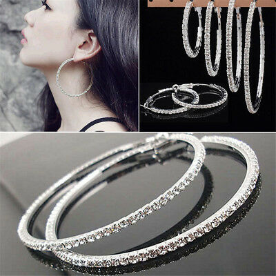 Chic Small Endless Hoop Lip Nose Ear Studs 8/10/14mm 925 Silver Earring New Gift 8
