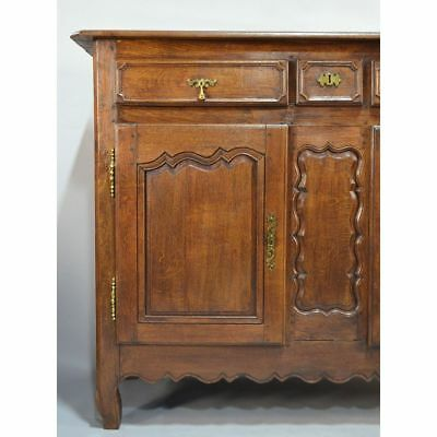Large Antique 18th century Rustic Oak French Country Louis XV Buffet Sideboard 4