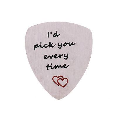 Guitar Pick Plectrum Gift Teacher Dad Uncle Best Friends Picks Stainless Steel