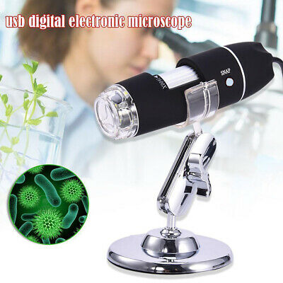 Microscopio Digitale 1600X 8 Led Usb Zoom Portatile Lente Ingrandimento Sc0 6