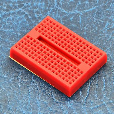 5pcs 5x RED Mini 170 Tie Point Solderless Breadboard Prototype Arduino PIC PI 2