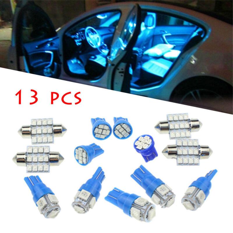 13Pcs Ice Blue T10 5SMD 5050 Car LED Wedge Light Plate License 194 2825 501 Bulb 2