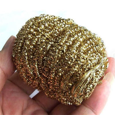 1pc Soldering Solder Iron Tip Cleaner Brass Cleaning Wire Sponge Ball Gold 3