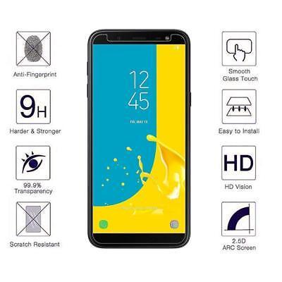 Vitre Protection Film Verre trempé Pour Samsung J6 2018 J6 Plus+ Coque Silicone 9