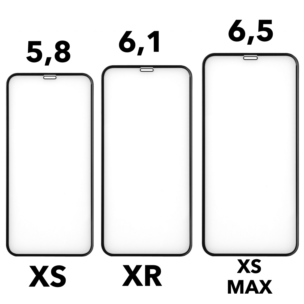 VITRE PROTECTION VERRE TREMPÉ FILM ÉCRAN iPhone XR X XS MAX 8 7 6 6S Plus LOT1-5 9