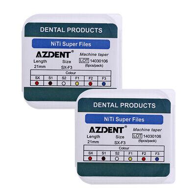 20X AZDENT Dental Engine Use NiTi Super Rotary File Machine Taper 21mm SX-F3 9