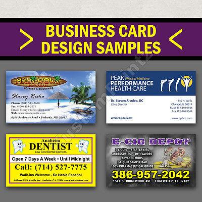 100 Custom Full Color Business Cards | 16Pt | Glossy Uv Finish | Free Design 4