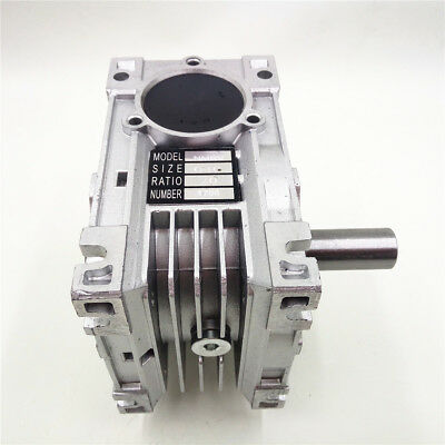NMRV040 Worm Gearbox Geared Speed Reducer 14mm Input for 60/80/86/90 Motor 7