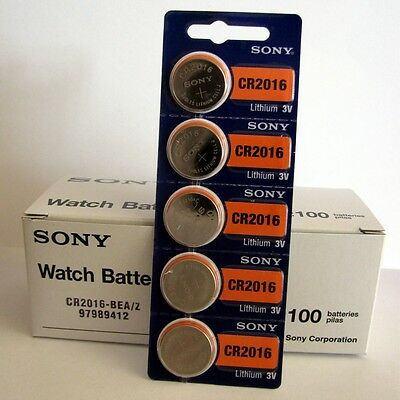 100 NEW SONY CR2016 3V Lithium Coin Battery Expire 2028 FRESHLY NEW - USA Seller 3