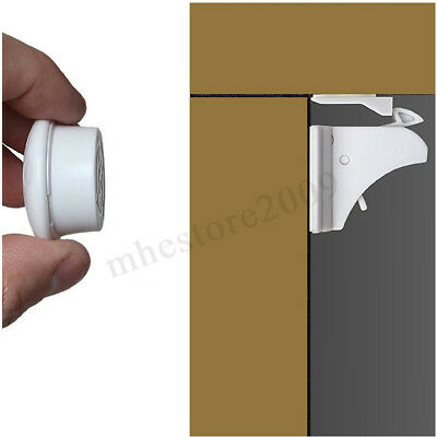 ❤ 10PCS Magnetic Cabinet Drawer Cupboard Locks Baby Kids Child Safety 10