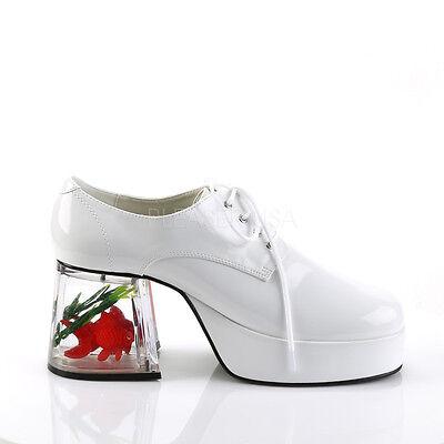 4f547f5e15f 1 Of 6FREE Shipping PIMP02 W Menu0027s White Platform Disco Pimp Mac Daddy  Goldfish Heel Costume Shoes Sc 1 St PicClick