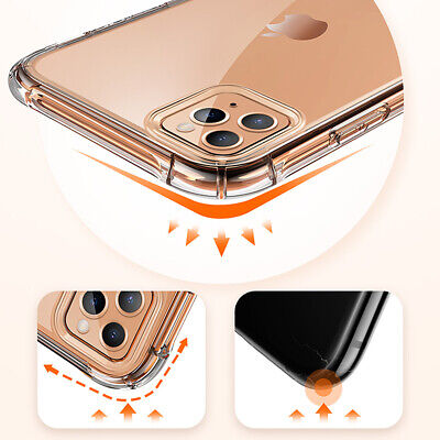 CLEAR Case For iPhone 11 Pro Max XR X XS Max 7 8 Plus Cover Shockproof Silicone 2