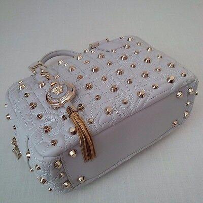 d9711854de ... New  Versace Vanitas Demetra Studs Barocco Quilt Leather Handbag Italy 6