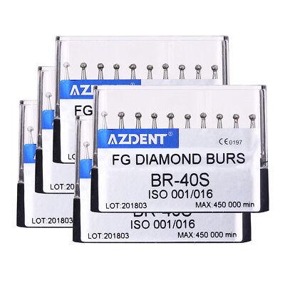 $0.99 1 Pack Dental Diamond Burs Kit BR-40S for High Speed Handpiece 10pcs/kit