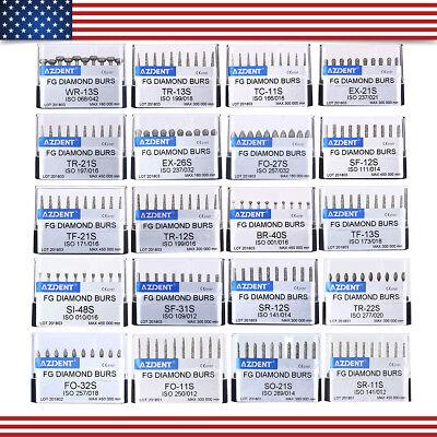 20 Models Dental Diamond FG Polish Burs Kit for High Speed Handpiece 10pcs/kit