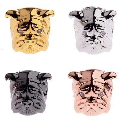 Zircon Gemstones Pave Crown Helmet Leopard Bracelet Connector Charm Loose Beads 3