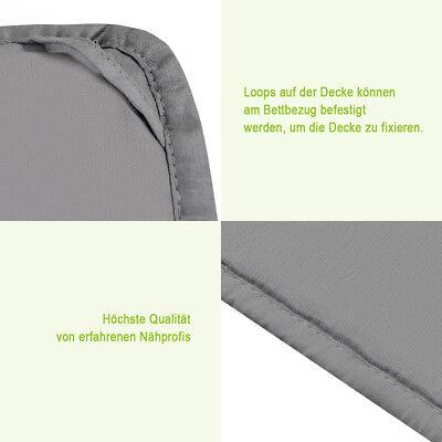 Gewichtsdecke Weighted Blanket Autism ADHD Sensory Therapie Decke Baumwolle Grau 10