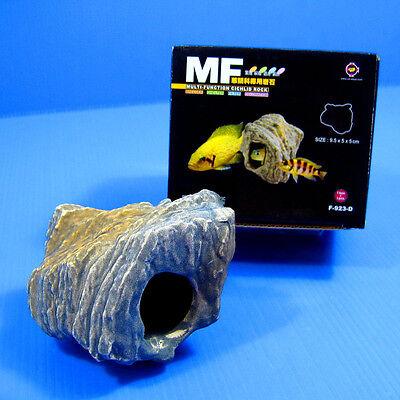 4pcs CICHLID STONE Céramique Aquarium Cave Rock Decor pour Tropical Fish Tank 8